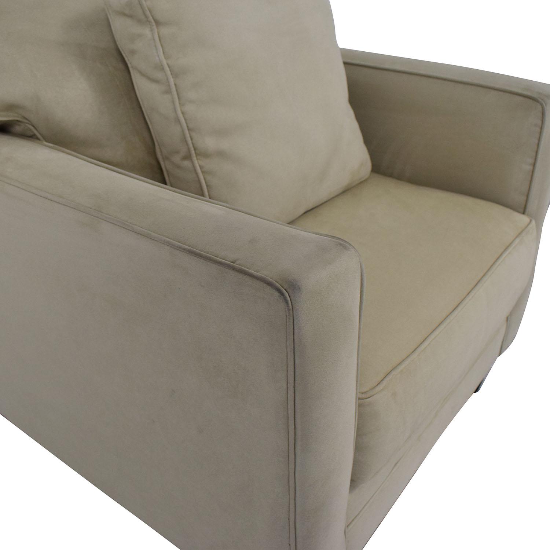 Bauhaus Furniture Bauhaus Furniture Suede Armchair Accent Chairs