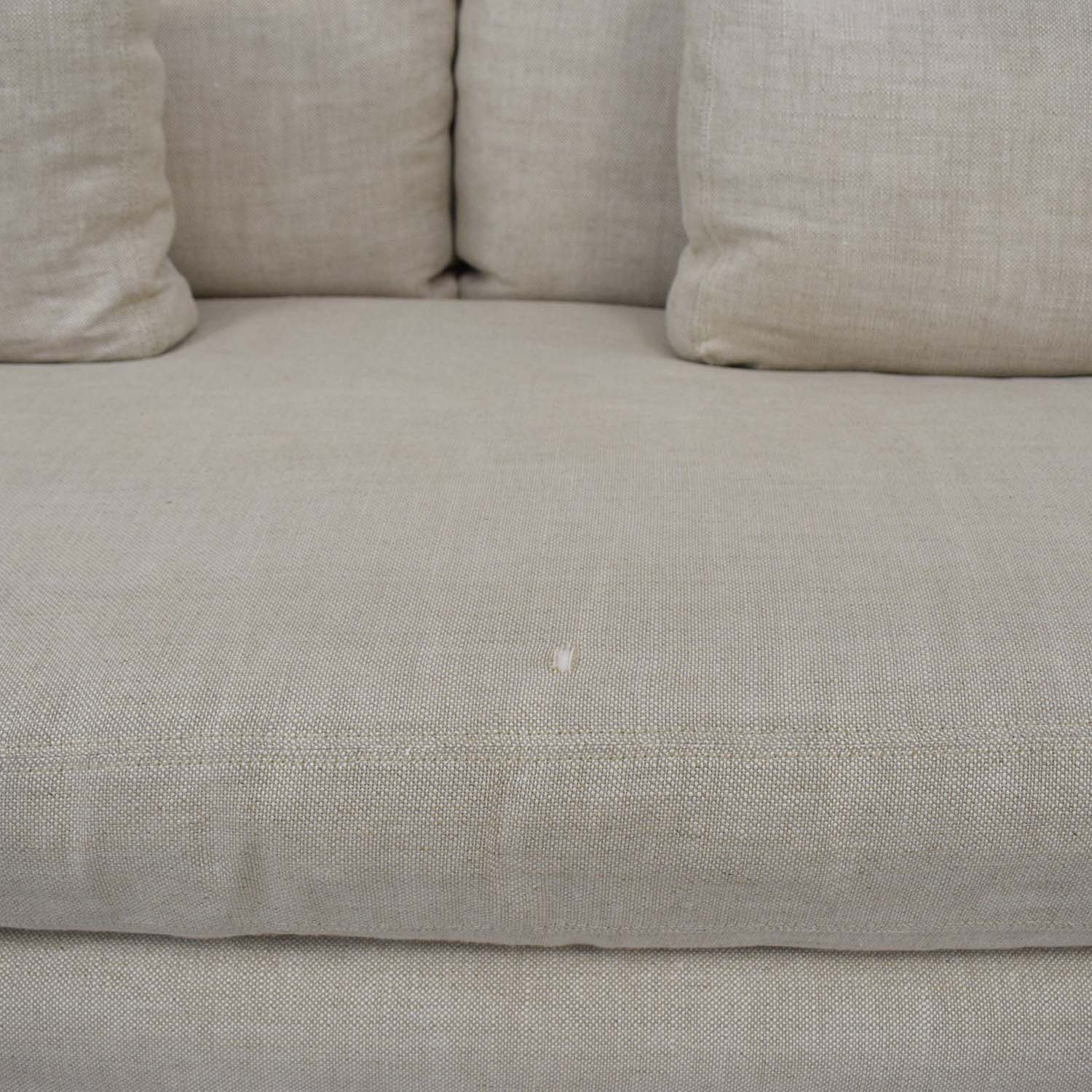 Restoration Hardware Restoration Hardware Belgian Track Arm Slipcovered Two-Seat Cushion Sofa price