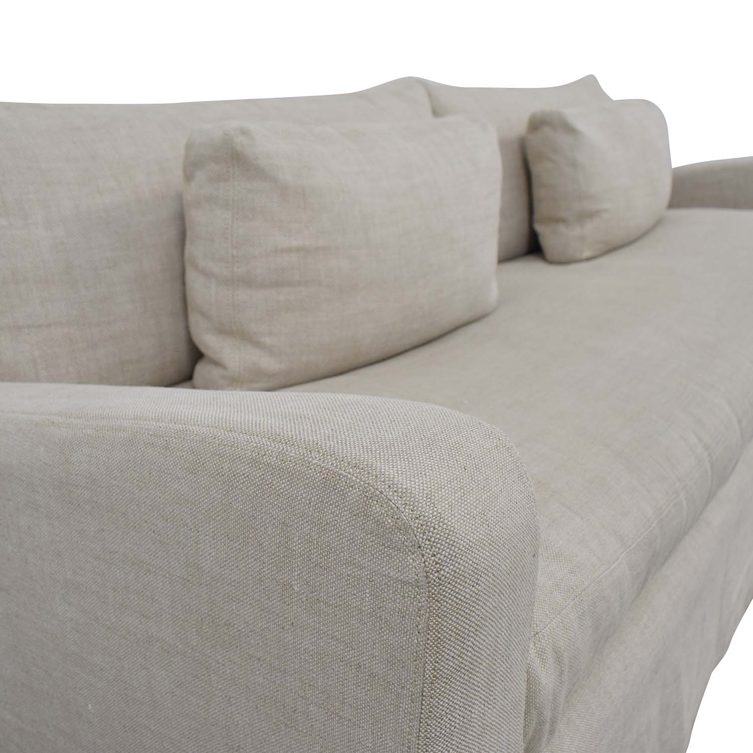 shop Restoration Hardware Belgian Track Arm Slipcovered Two-Seat Cushion Sofa Restoration Hardware Classic Sofas
