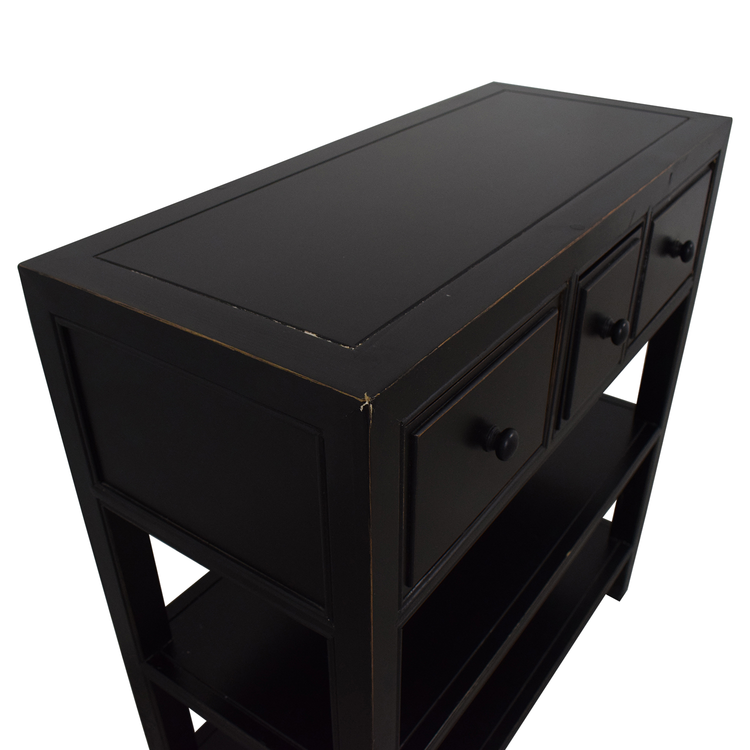 Three Drawer Entry Table on sale