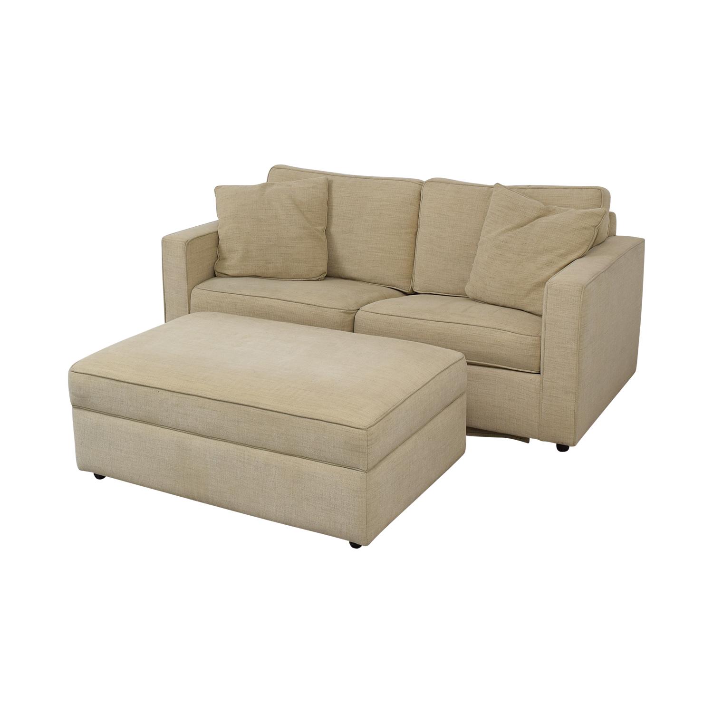 Room & Board Room & Board York Full Sleeper Sofa and Storage Ottoman nyc