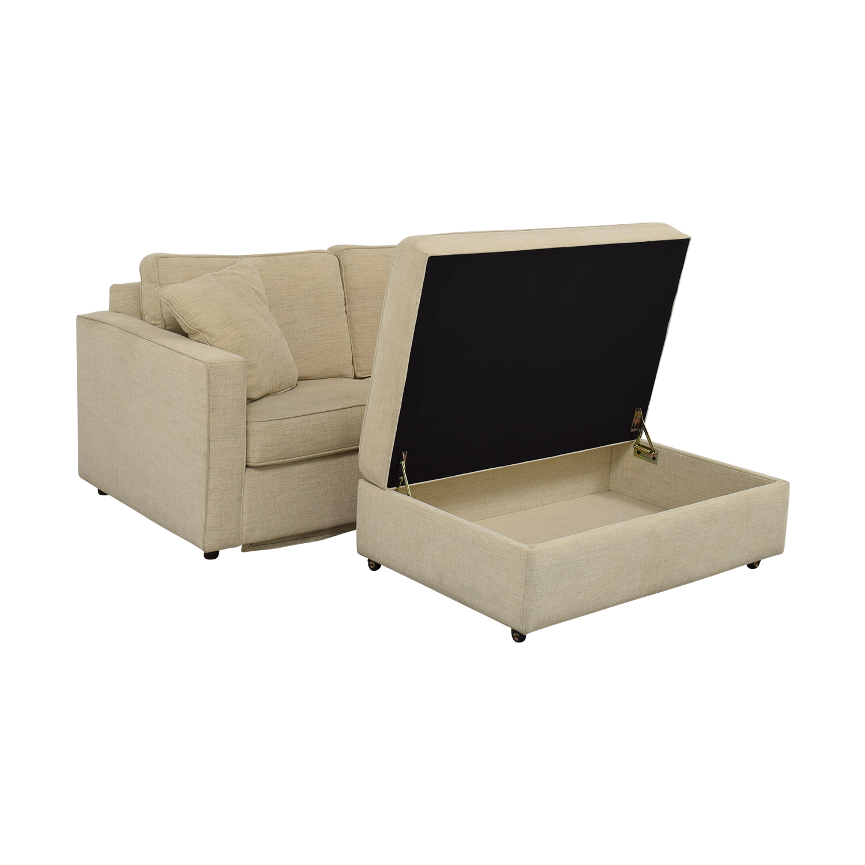 Room & Board Room & Board York Full Sleeper Sofa and Storage Ottoman price