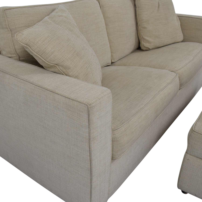 Room & Board Room & Board York Full Sleeper Sofa and Storage Ottoman discount
