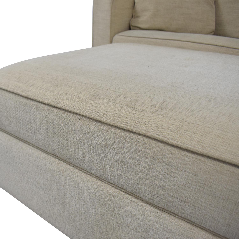 buy Room & Board York Full Sleeper Sofa and Storage Ottoman Room & Board Sofa Beds