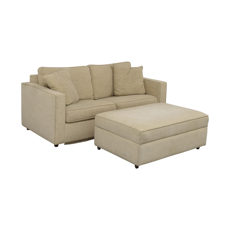 Room & Board York Full Sleeper Sofa and Storage Ottoman sale