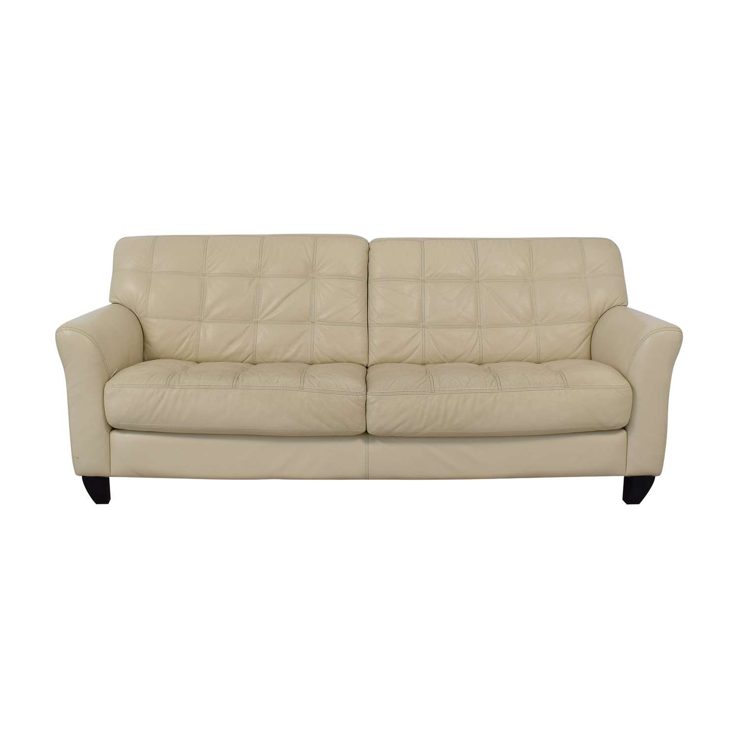 Chateau d'Ax Chateau d'Ax Milan White Leather Couch nj