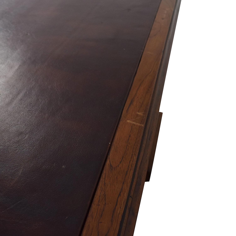 Antique English Colonial Pedestal Desk / Tables