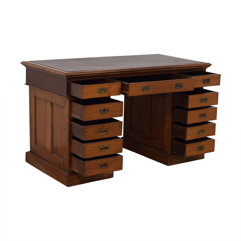 Antique English Colonial Pedestal Desk price