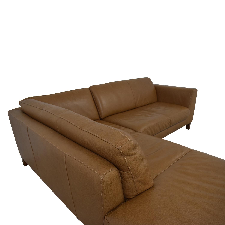 Natuzzi Natuzzi Italsofa L-Shaped Sectional Sofa Sofas