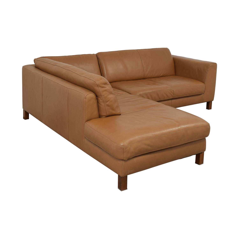 buy Natuzzi Italsofa L-Shaped Sectional Sofa Natuzzi Sofas