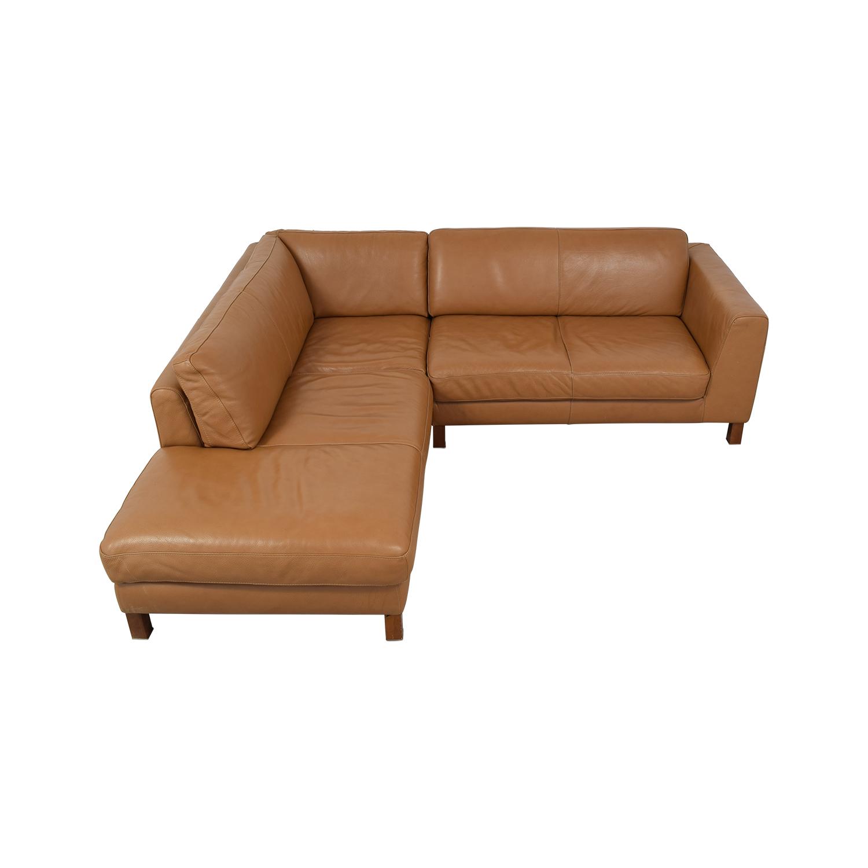 Natuzzi Italsofa L-Shaped Sectional Sofa Natuzzi