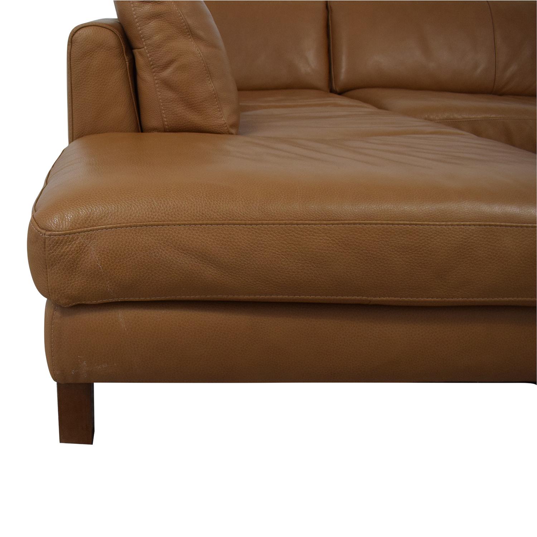 Natuzzi Natuzzi Italsofa L-Shaped Sectional Sofa used