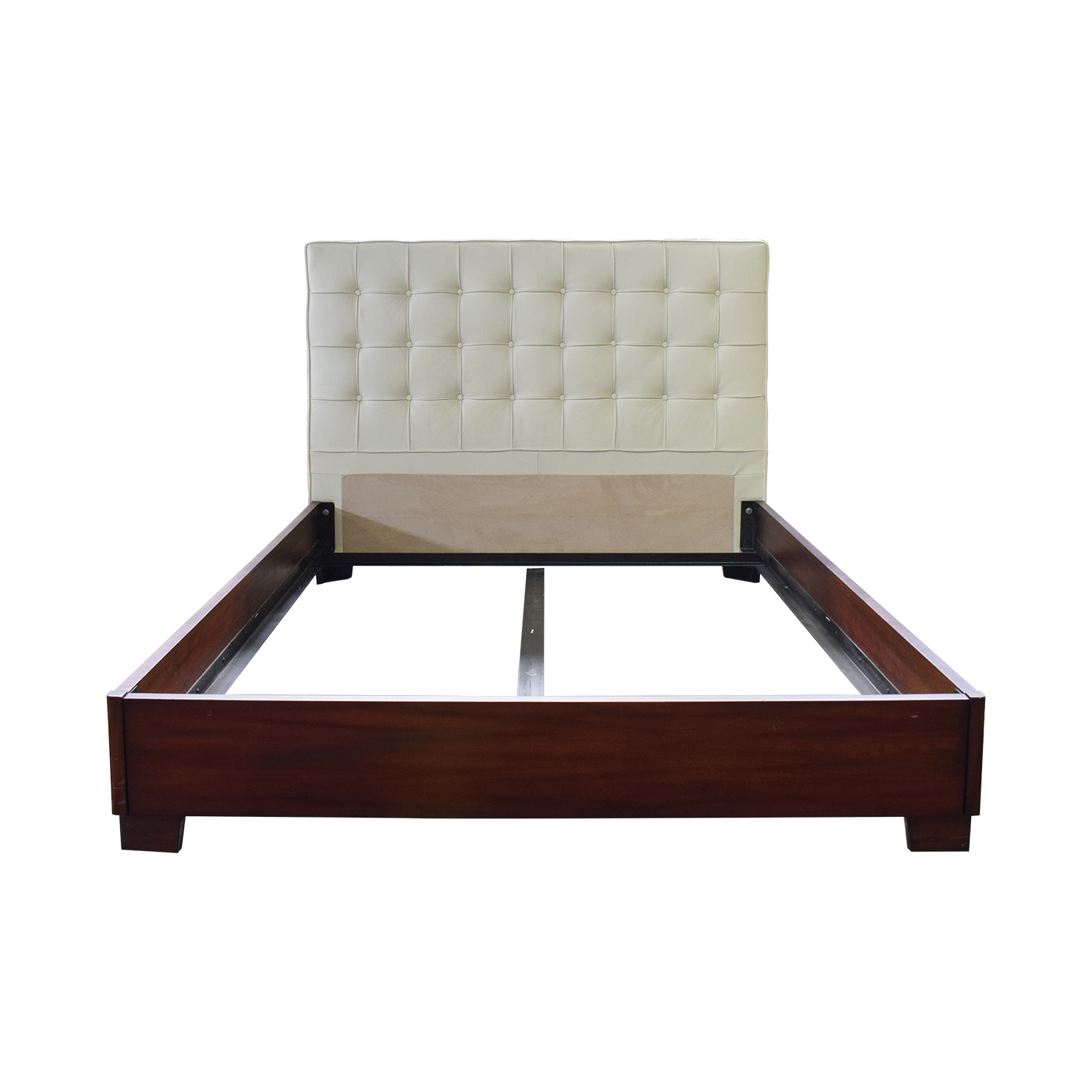 Charles P. Rogers Charles P. Rogers Platform Queen Bed with Leather Headboard discount