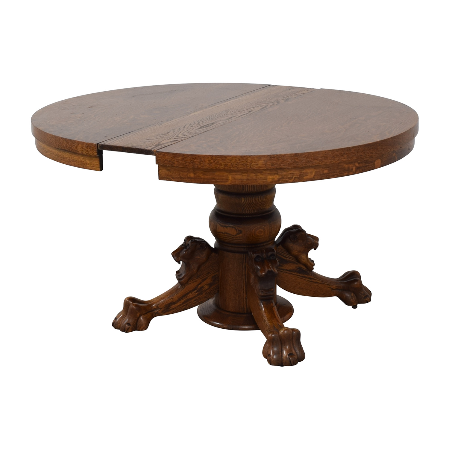 Vintage Extendable Dining Table Brown