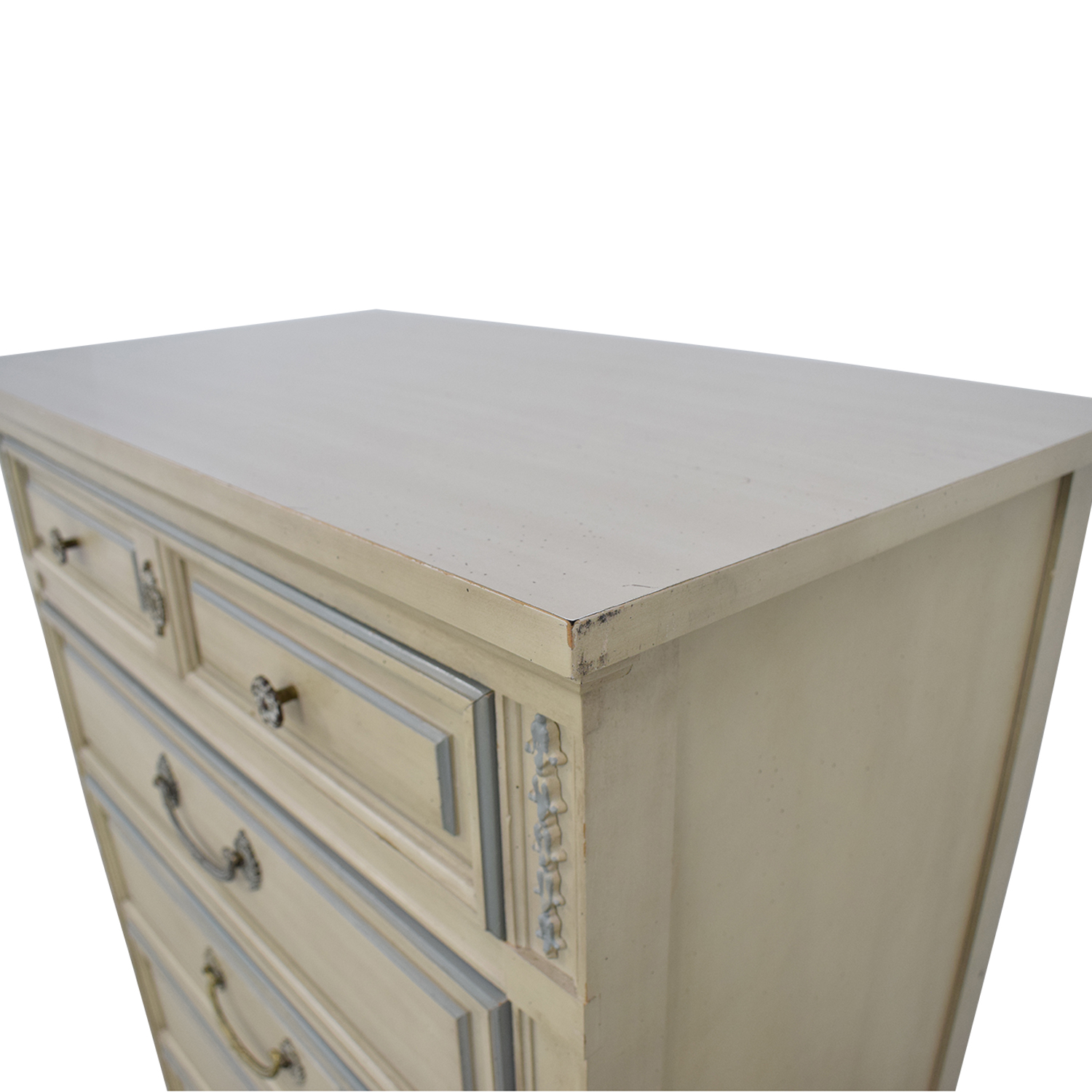 Dixie Furniture Company Dixie Furniture Chest Of Five Drawers off white