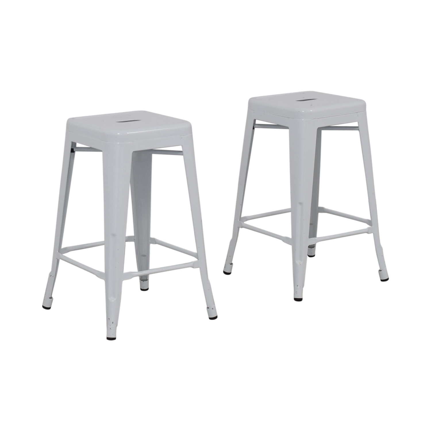 White Metal Stools second hand
