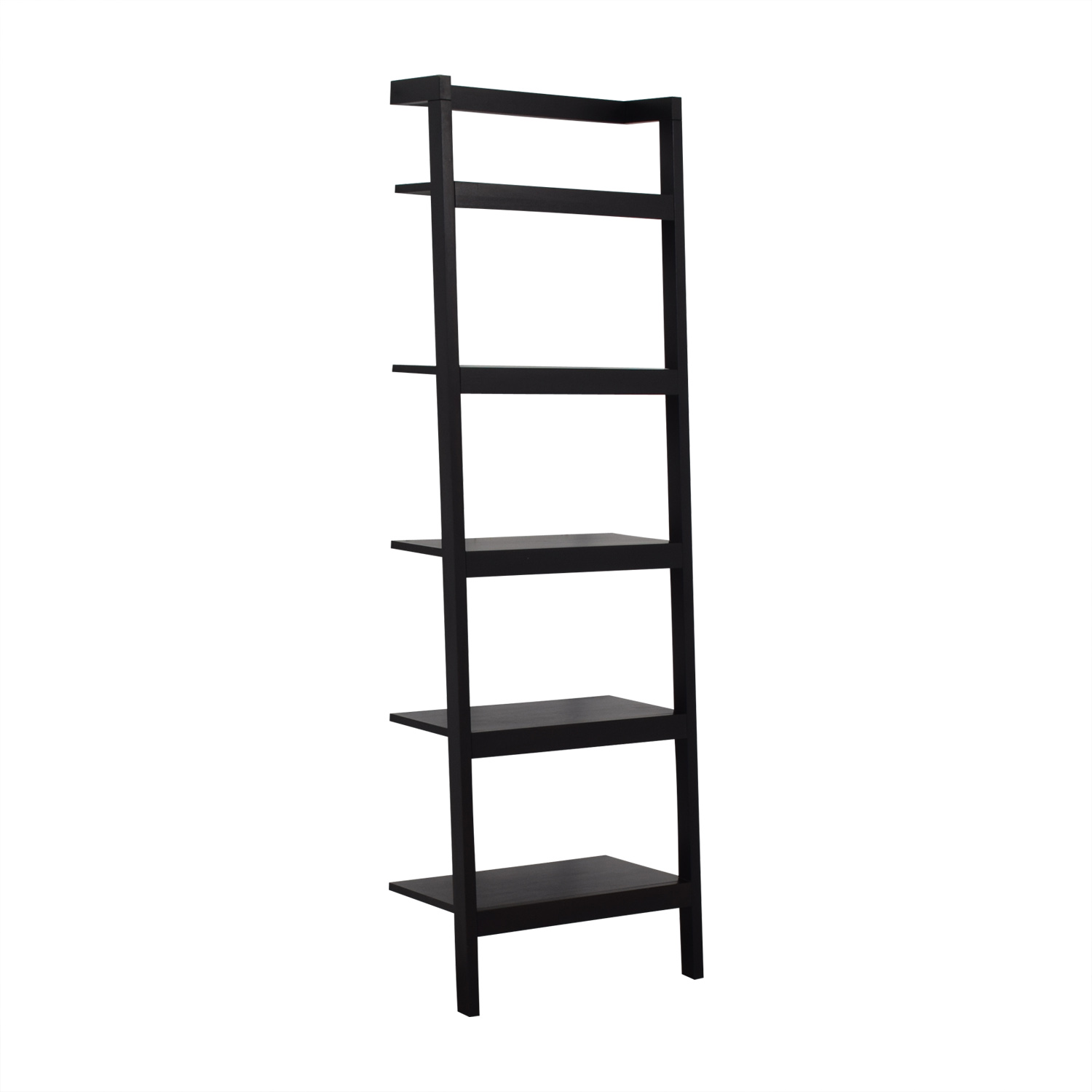 Crate & Barrel Sawyer Leaning Bookcase / Bookcases & Shelving