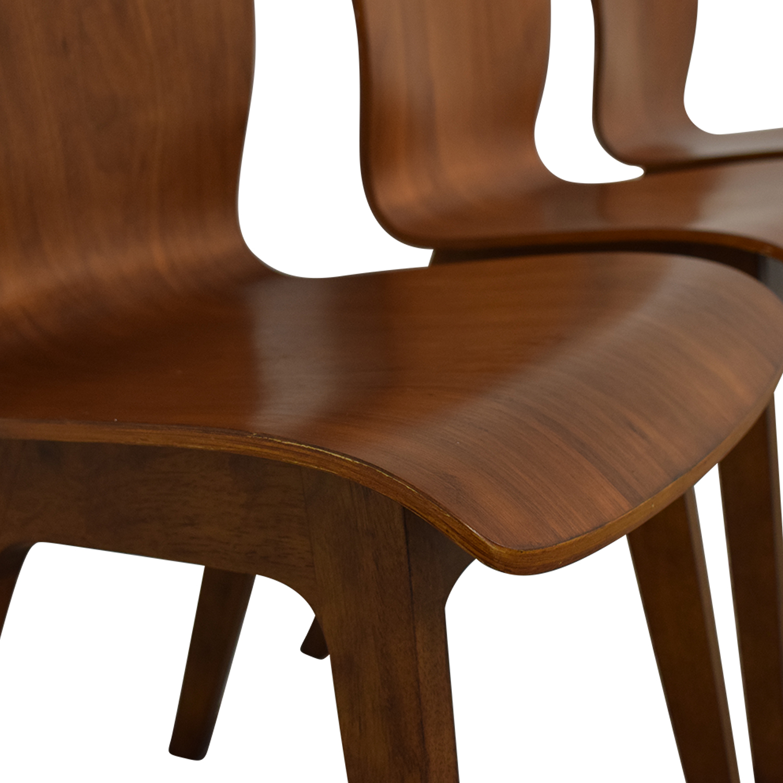West Elm West Elm Crest Bentwood Dining Chairs nj