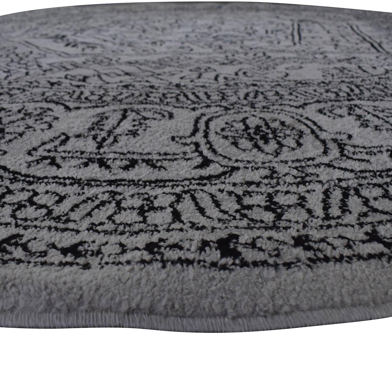shop Safavieh Adirondack Silver Black Round Area Rug Safavieh Decor
