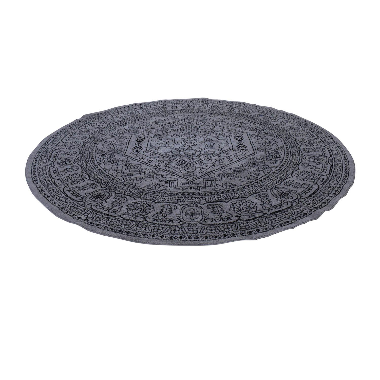 Safavieh Safavieh Adirondack Silver Black Round Area Rug dimensions