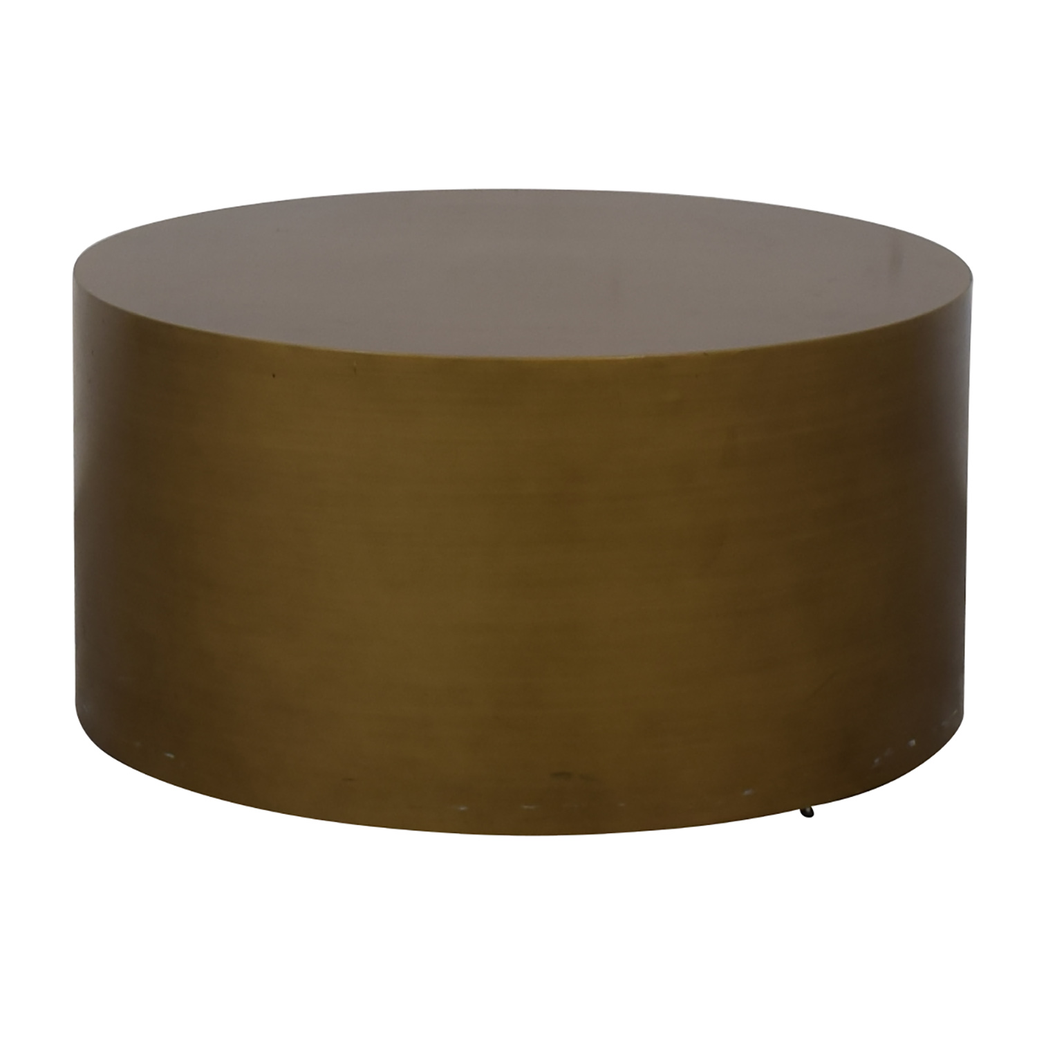 44 Off West Elm West Elm Metal Drum Coffee Table Antique Brass Tables