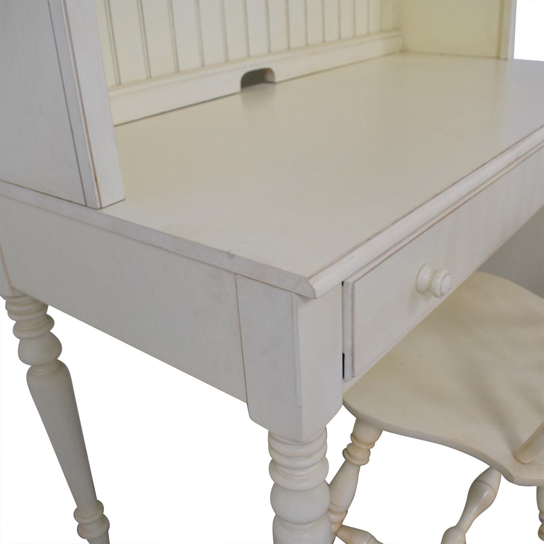 buy Ethan Allen White Desk & Chair Ethan Allen