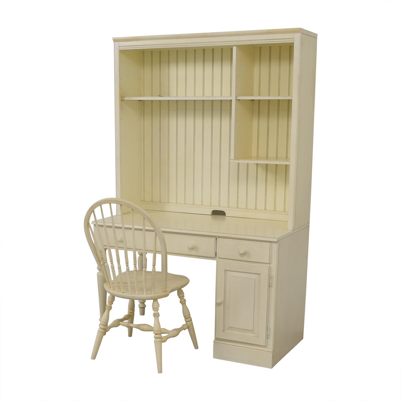 Ethan Allen Ethan Allen White Desk & Chair price