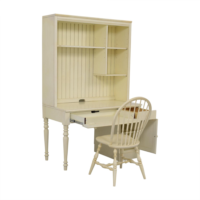 Ethan Allen Ethan Allen White Desk & Chair