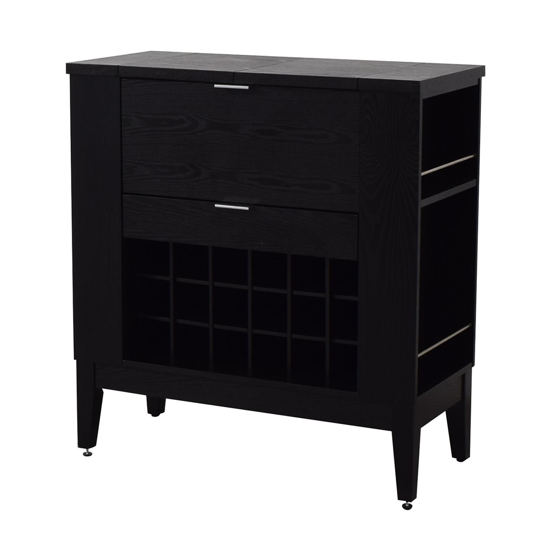 shop Crate & Barrel Parker Spirits Cabinet Crate & Barrel Tables