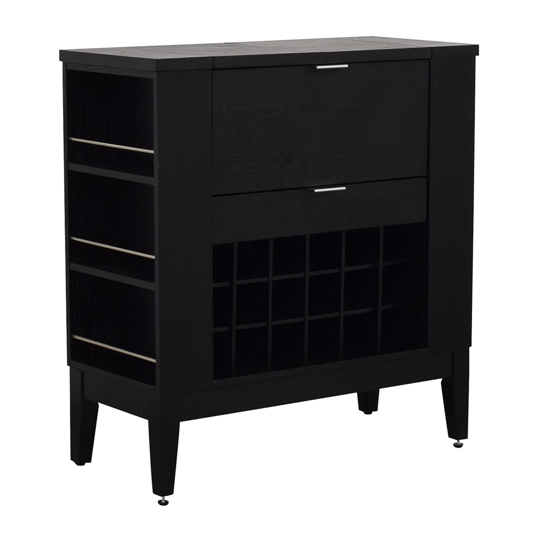 shop Crate & Barrel Parker Spirits Cabinet Crate & Barrel