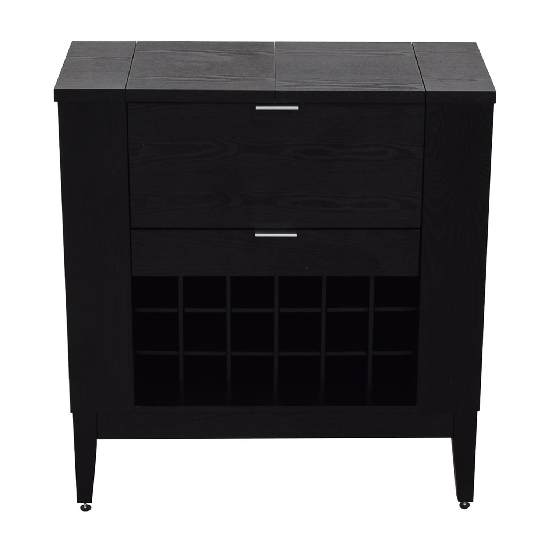 Crate & Barrel Parker Spirits Cabinet / Utility Tables