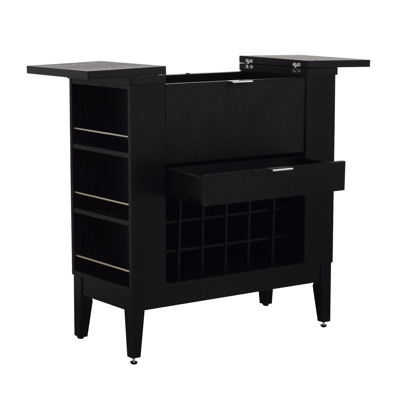 Crate & Barrel Crate & Barrel Parker Spirits Cabinet Black