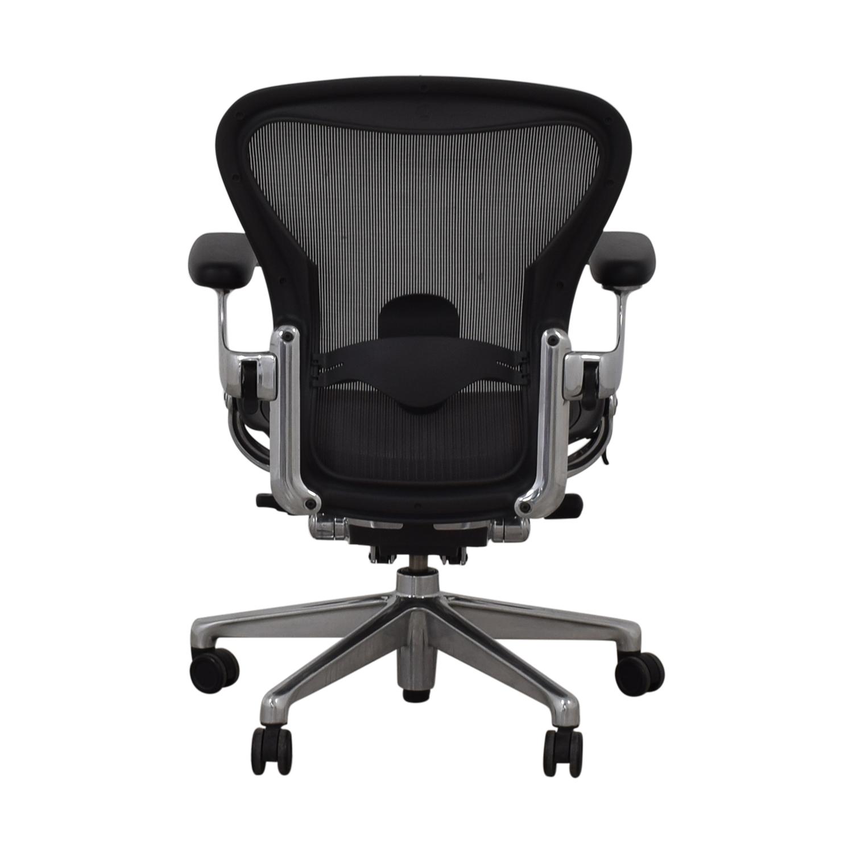 Herman Miller Herman Miller Aeron Size B Black Office Desk Chair coupon