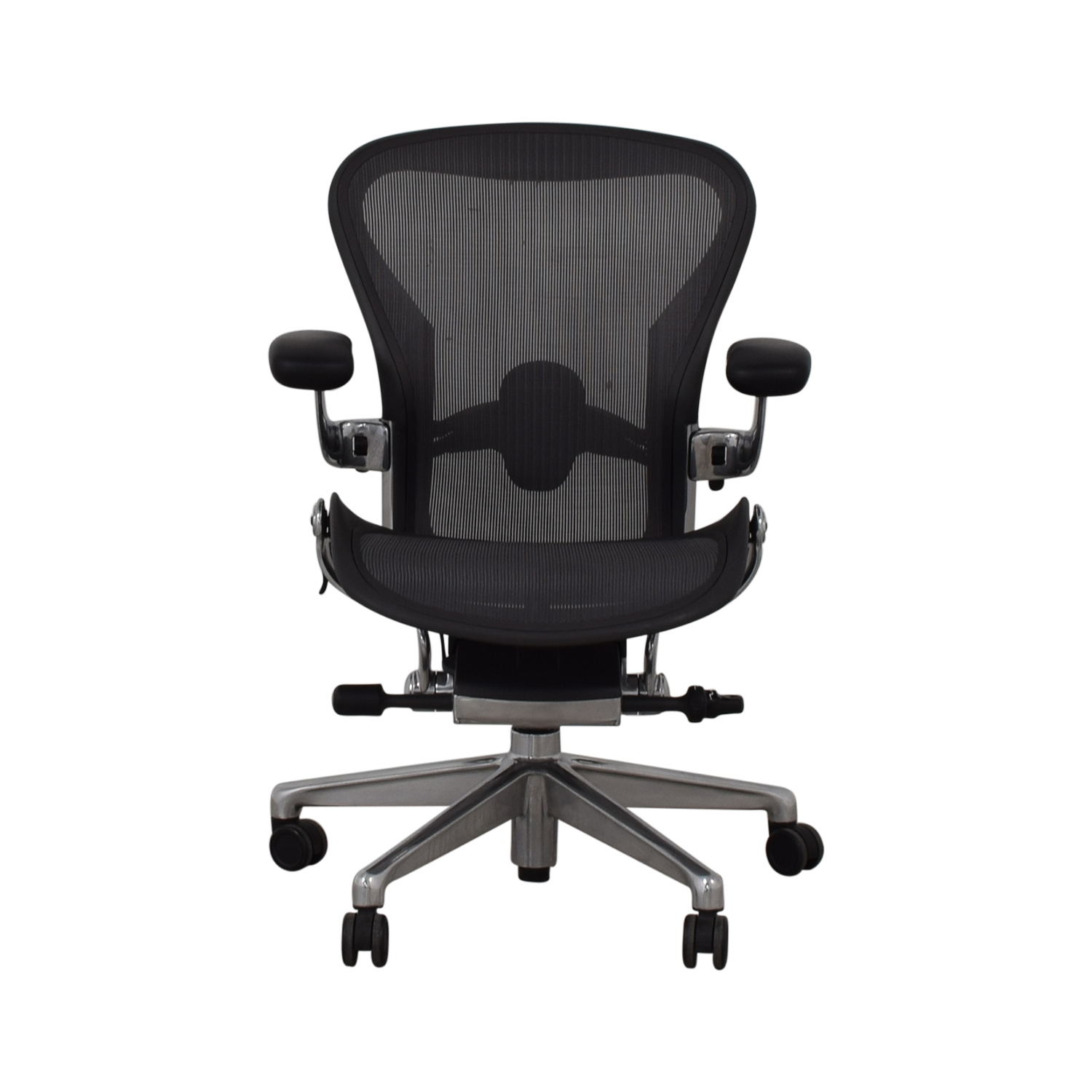 Herman Miller Aeron Size B Black Office Desk Chair / Chairs