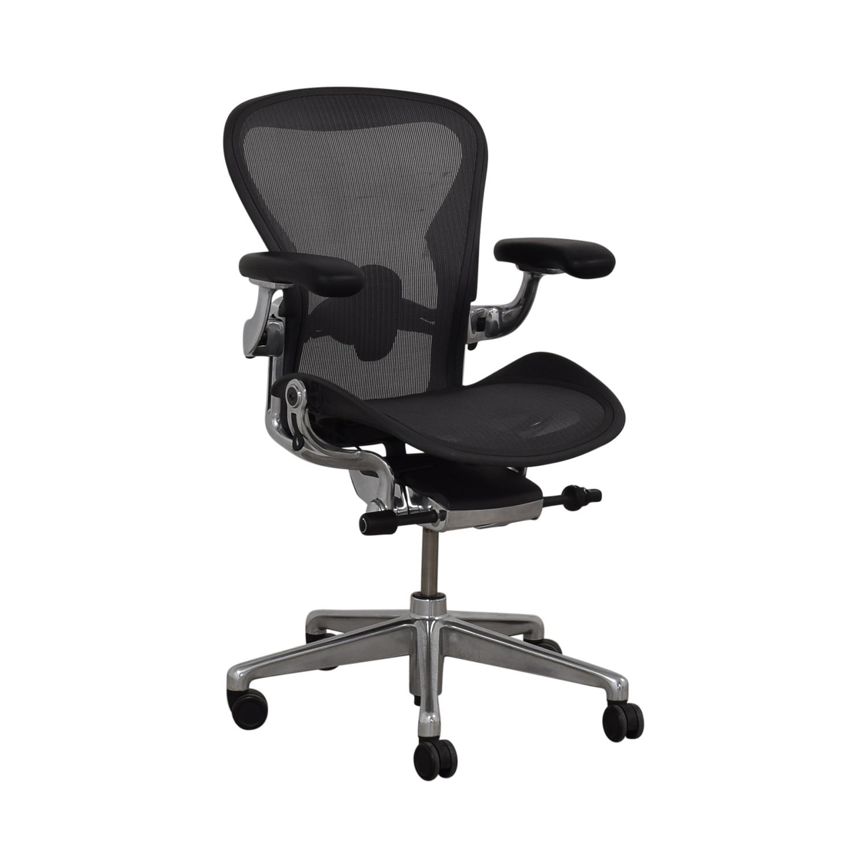 Herman Miller Herman Miller Aeron Size B Black Office Desk Chair price