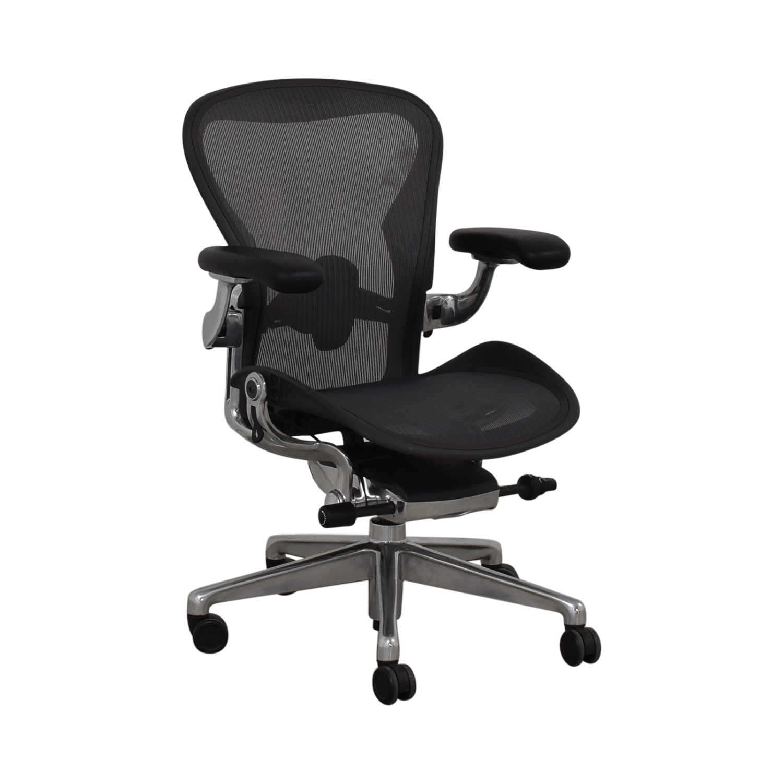 Herman Miller Herman Miller Aeron Size B Black Office Desk Chair Chairs