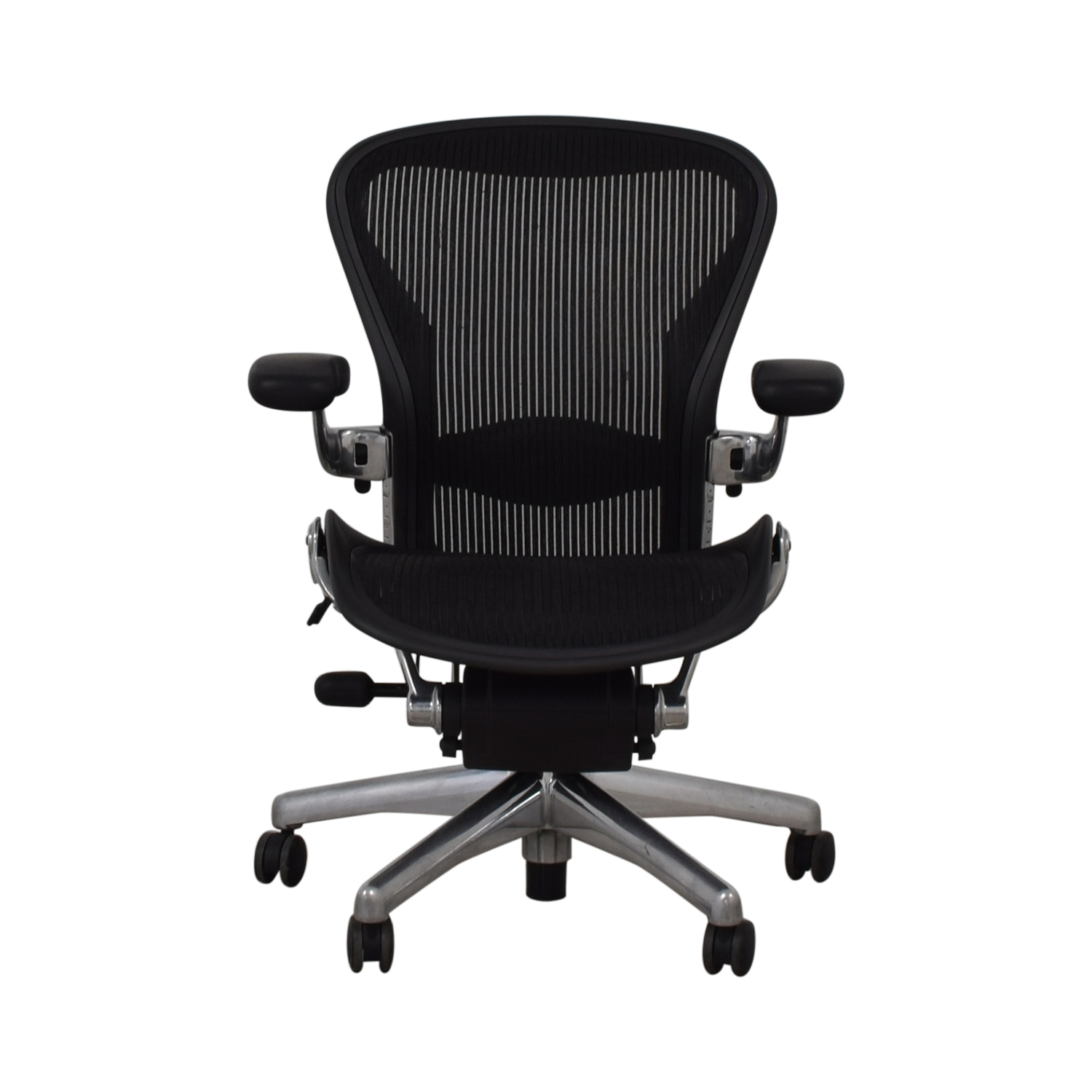 Herman Miller Herman Miller Aeron Size B Black Office Desk Chair black