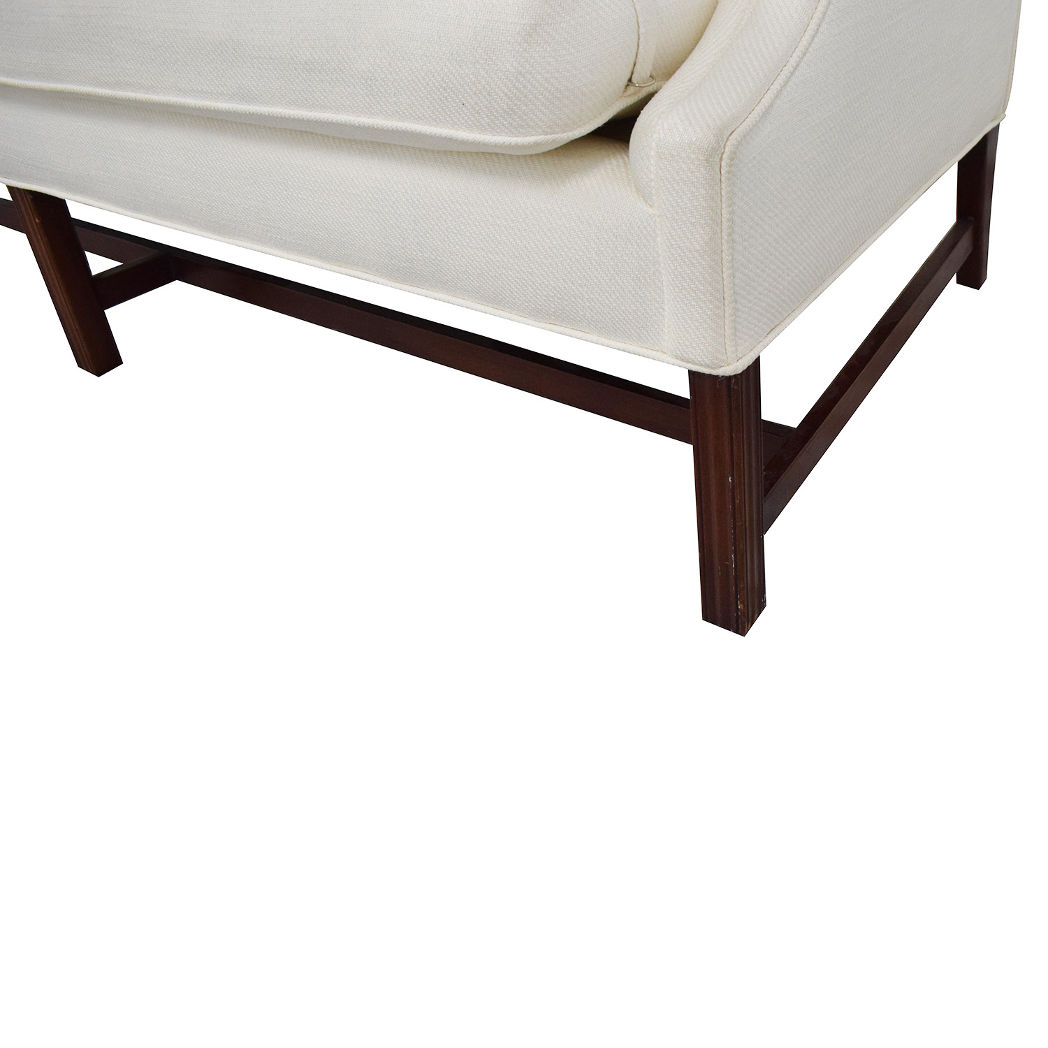 White Linen Camel Back Couch sale