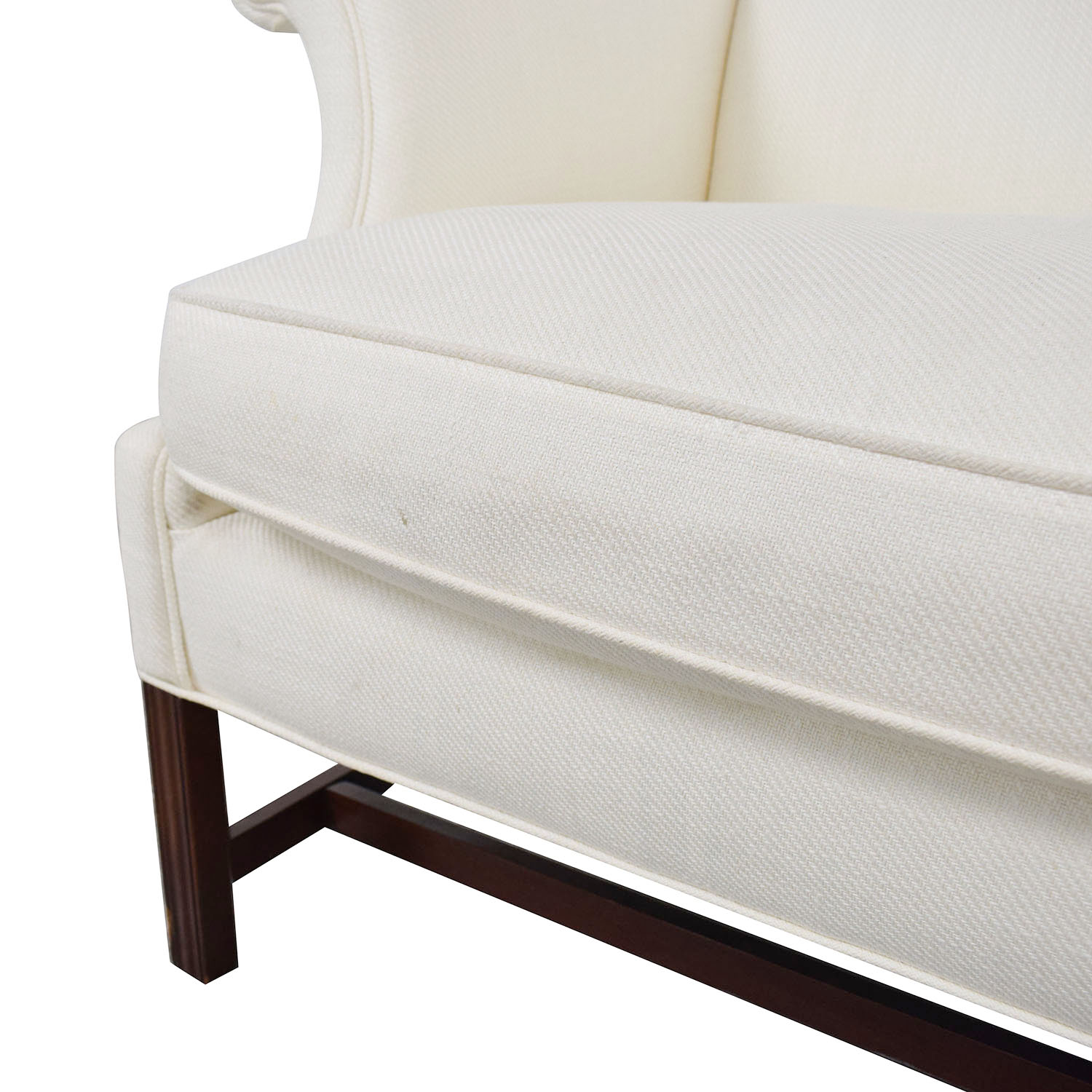 White Linen Camel Back Couch price