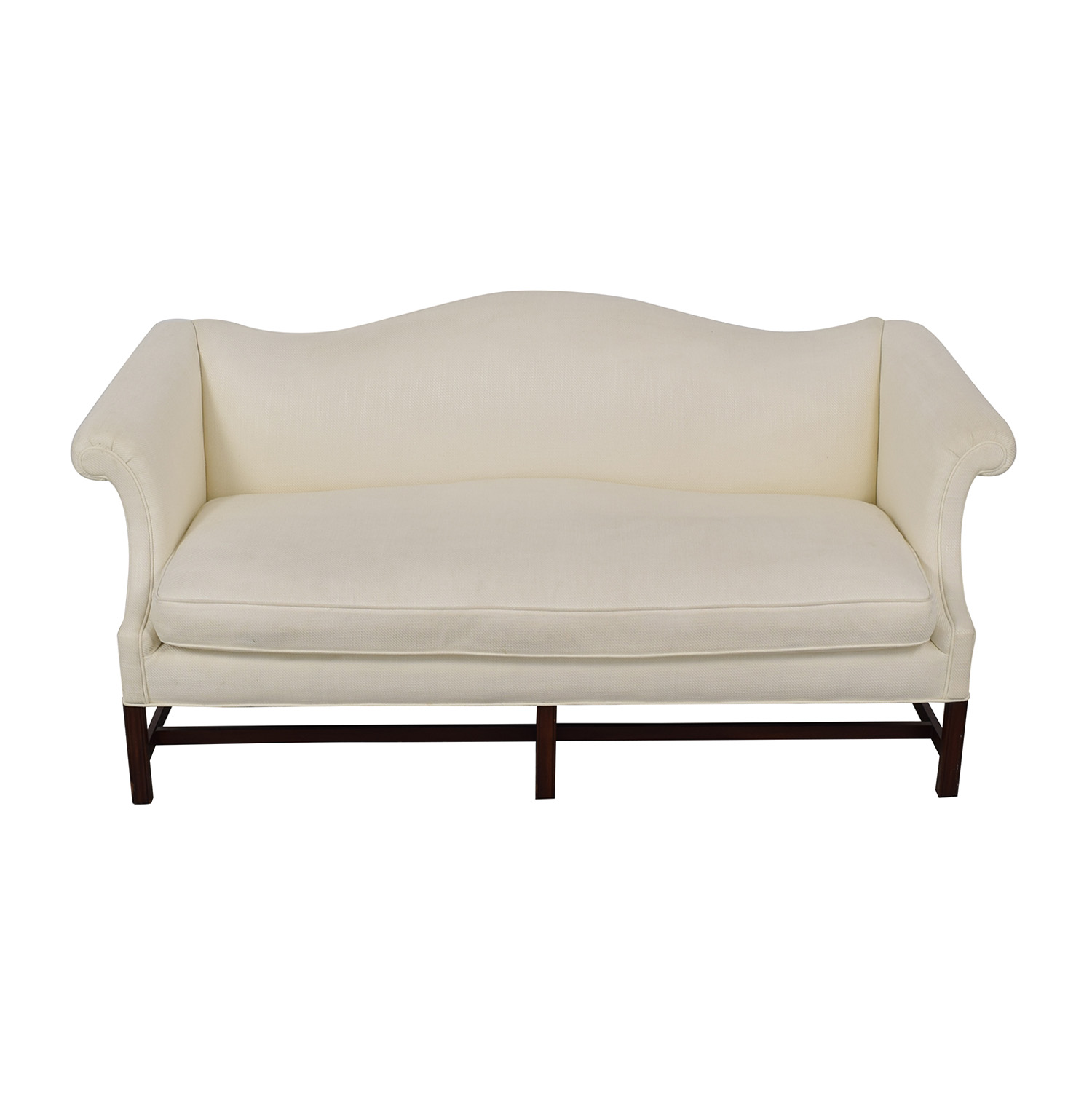 buy  White Linen Camel Back Couch online