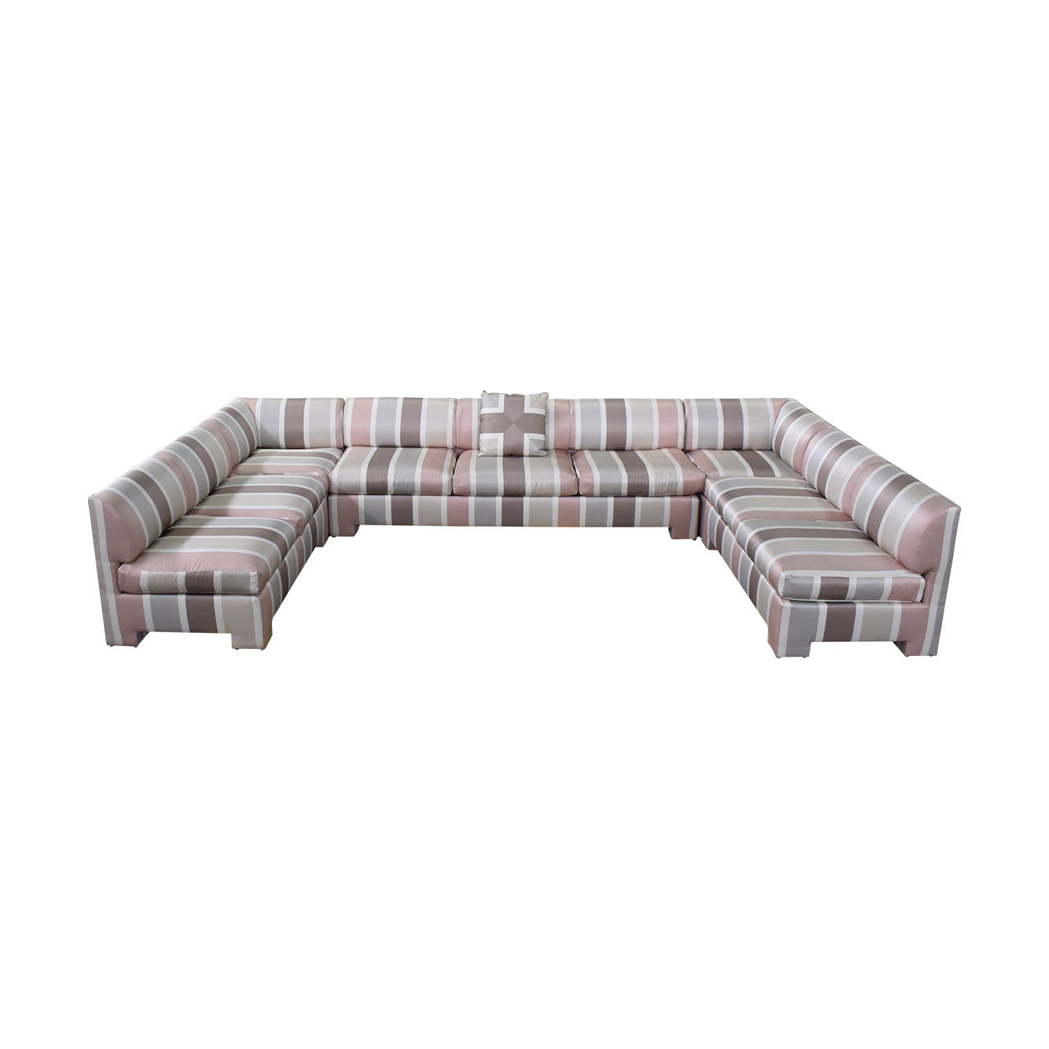buy  Custom Pink Striped Sectional Sofa online