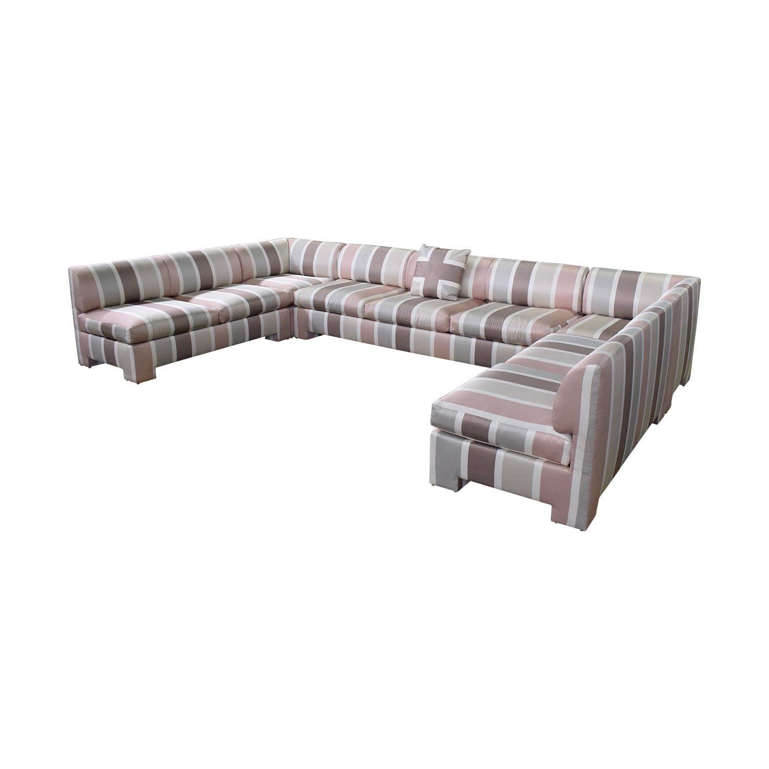 shop  Custom Pink Striped Sectional Sofa online