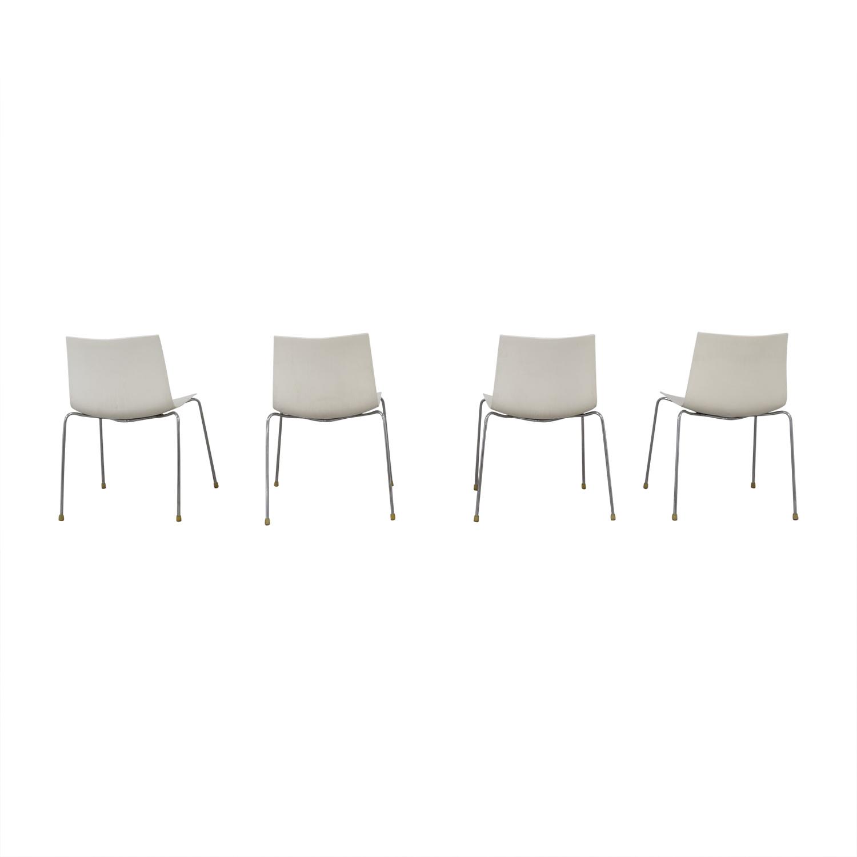 """Arper Arper """"Catifa 46"""" Chairs White"""