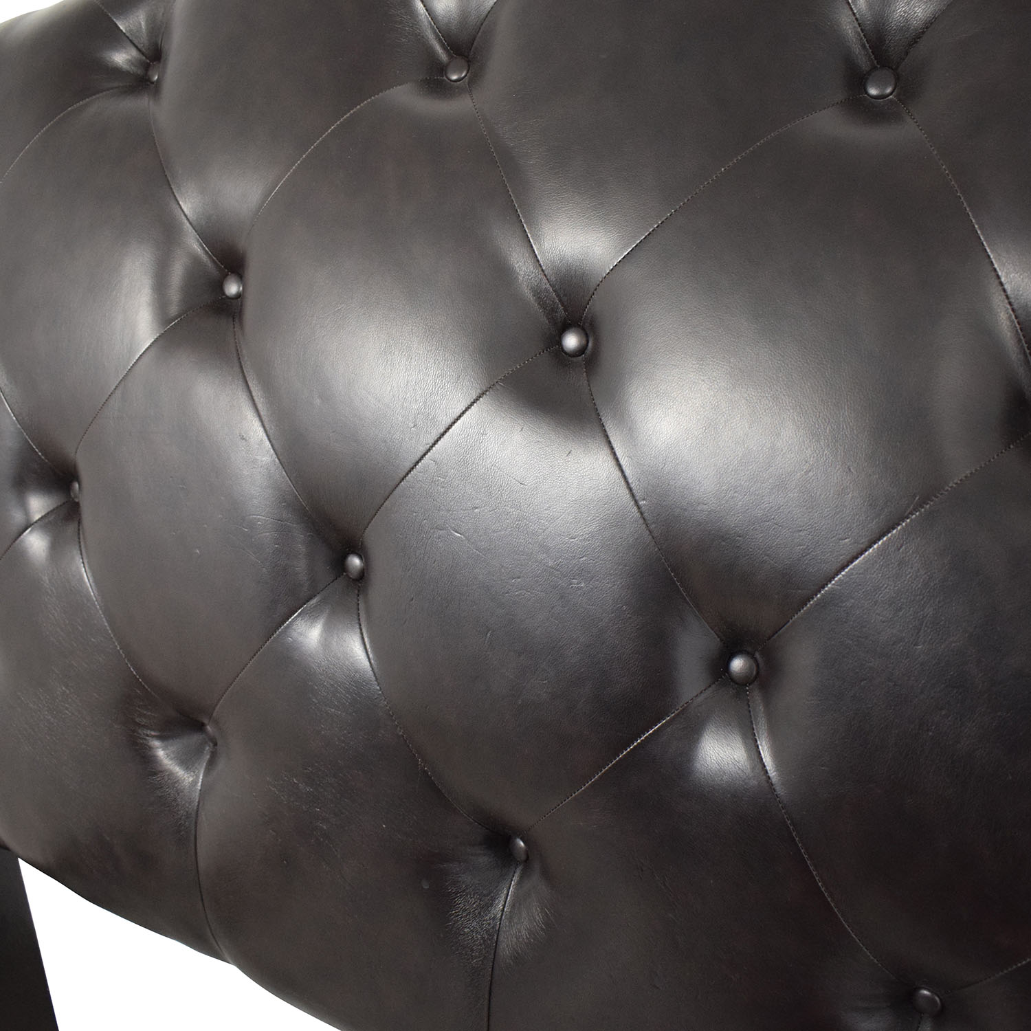 shop Ashley Furniture Tufted Leather Sleigh Queen Bed Frame online