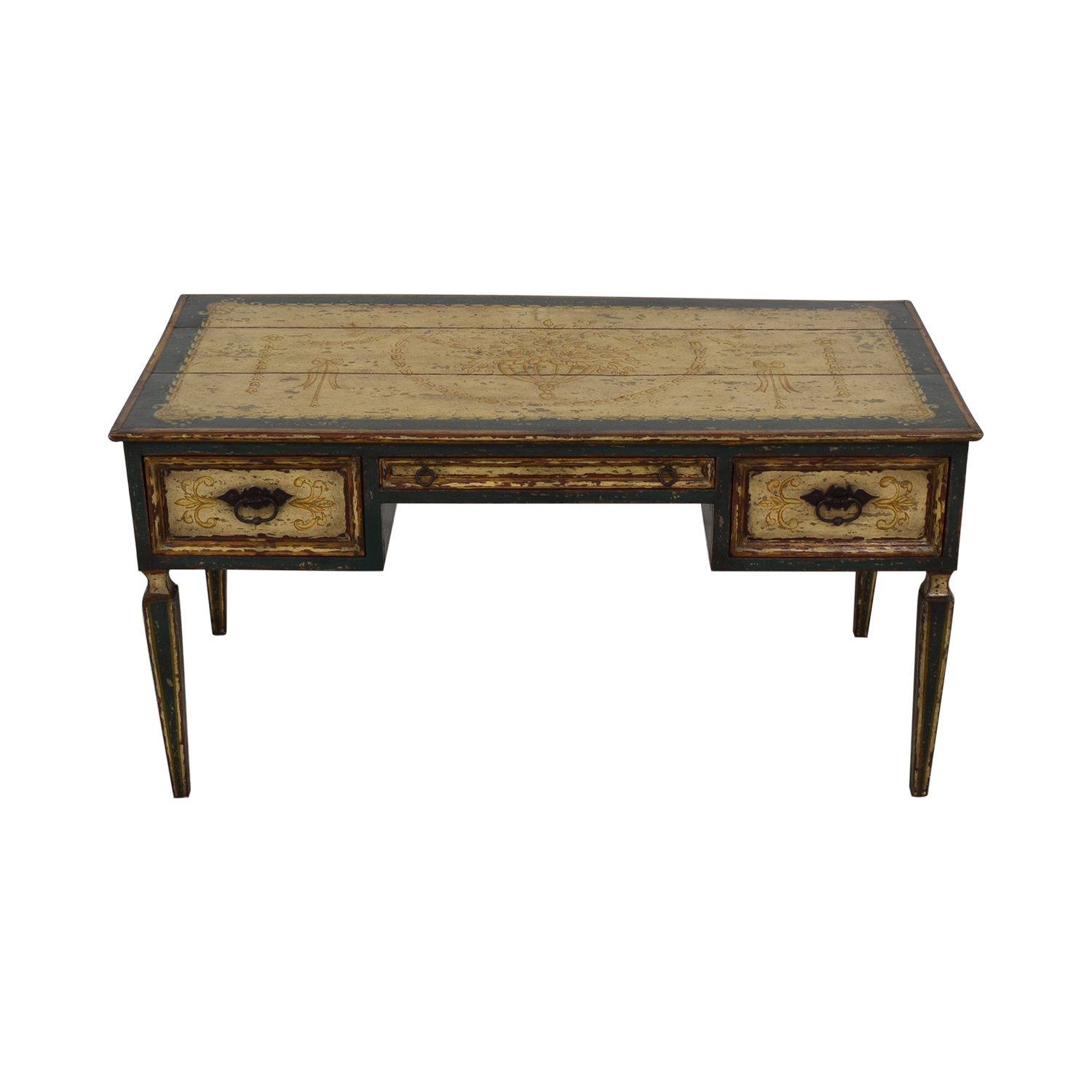 Equestrian Hand Painted Reclaimed Wood Desk