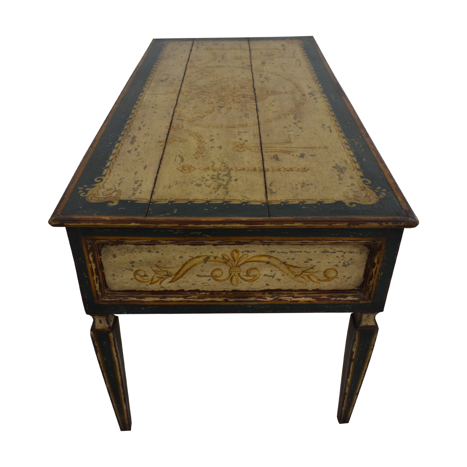 Equestrian Hand Painted Reclaimed Wood Desk second hand