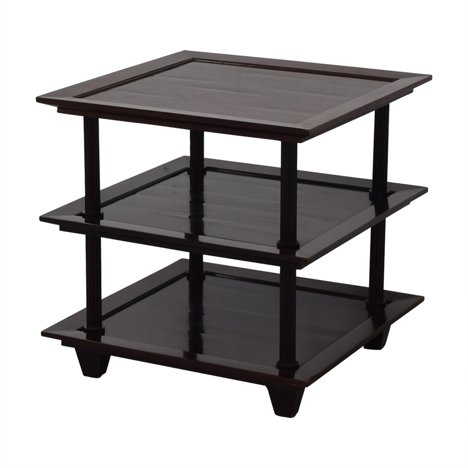 Baker Furniture by Barbara Barry Three Tiered Accent Table Baker Furniture