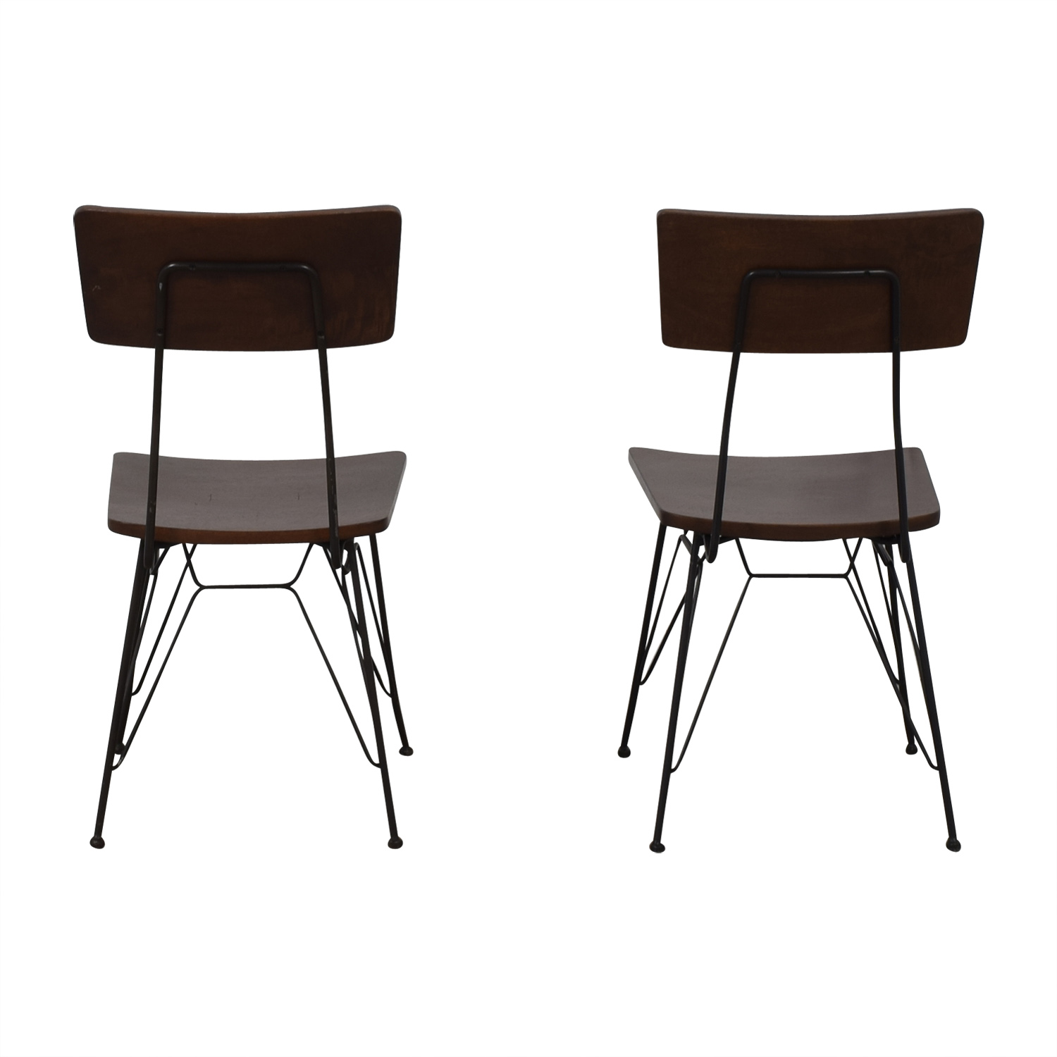 Crate & Barrel Crate & Barrel Elston Dining Chairs dimensions