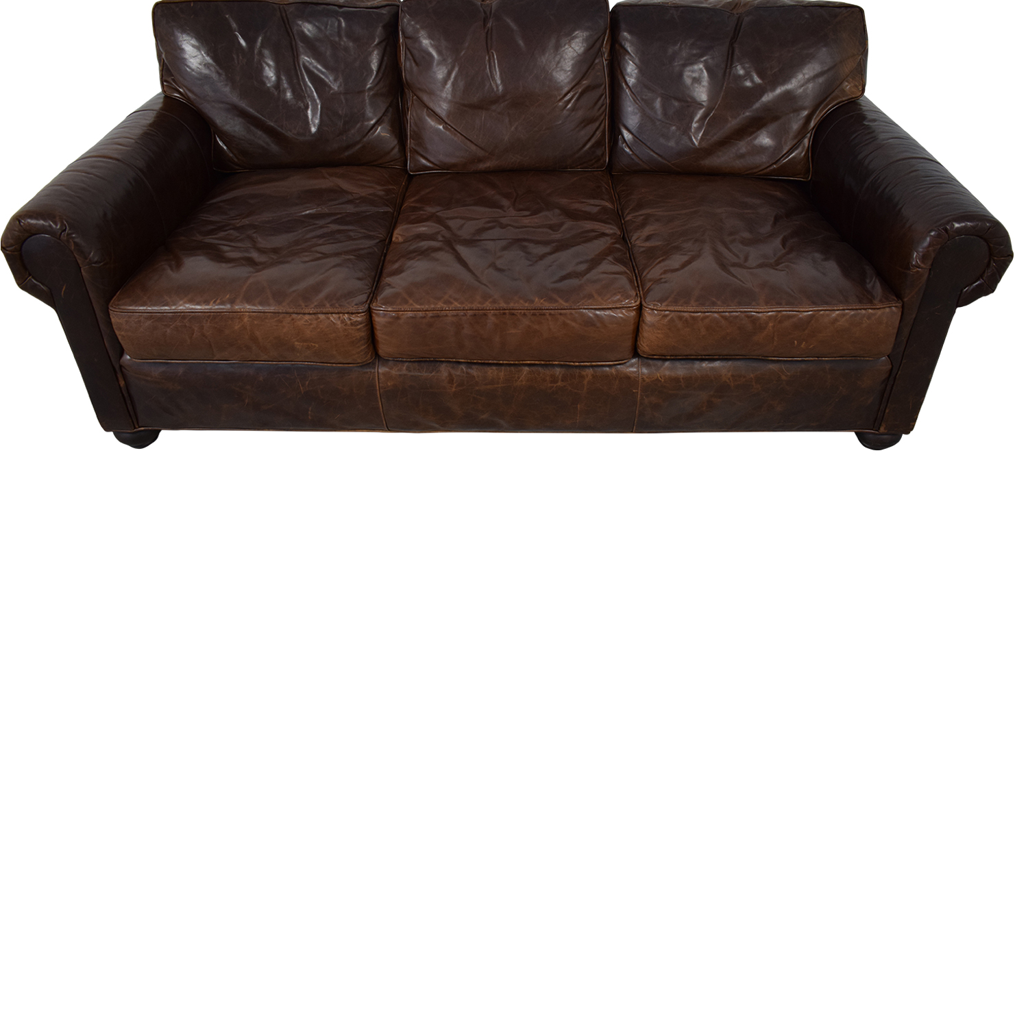 Restoration Hardware Restoration Hardware Lancaster Leather Sofa brown