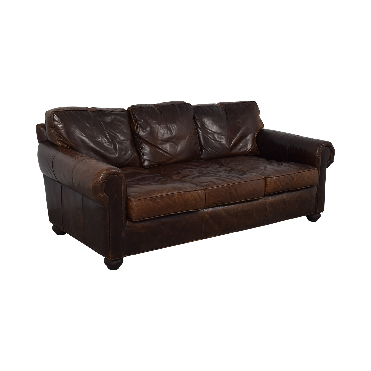 Restoration Hardware Restoration Hardware Lancaster Leather Sofa for sale